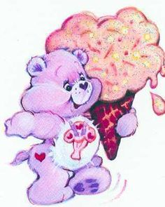 the ORIGINAL Share Bear (the new one has 2 lollipops on her tummy instead of the ice cream)