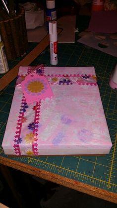 Gift box: Gelli monoprinting