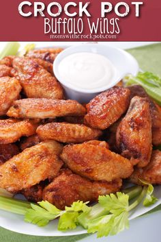 Crock Pot Buffalo Wings - Moms with crockpots. Awesome site!!!