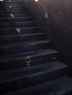 black and gold alchemy stairs