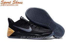 67b6a0c75492 Nike Kobe A.D. Sneakers For Men Low Black Golden Copuon Code N6Mcer