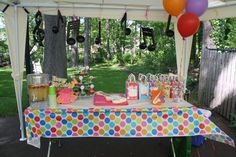Fresh Beat Band Birthday Party dessert table