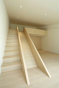 stairs with slide
