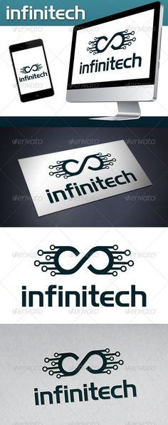 Infinite Tech (Infinitech) Logo Template #GraphicRiver - Color version: Single color. - The logo is 100% resizable. - You can change text and colors very easy using the named and organized layers that includes the file. - The typography used is highlandgothicflf you can download here: .fonts2u /highlandgothicflf.font Created: 8December12 GraphicsFilesIncluded: VectorEPS #AIIllustrator Layered: Yes MinimumAdobeCSVersion: CS Resolution: Resizable Tags: app #chat #circuit #communication…