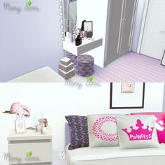 Mony Sims: A Little Pink, Please Bedroom • Sims 4 Downloads