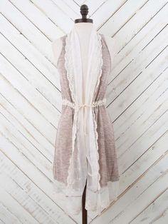 Altar'd State Dainty Lace Vest