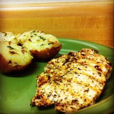 Italian grilled chx w/ garlic Parm potatoes