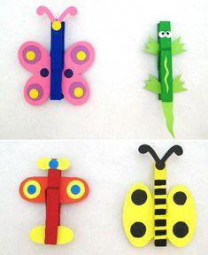 Les pinces à linge pense-bête, un bricolage facile à faire avec les enfants - Grandir avec Nathan #bricolagefacile
