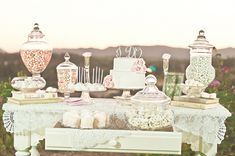 Wedding Dessert Table -  Mariela Campbell Photography