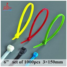"1000 PCS 6"" inch 18LBS  (3*150mm )width 2.5mm Plastic Cable Wire Zip Ties Black  Self Locking Nylon Cable tie ,EU Standard"