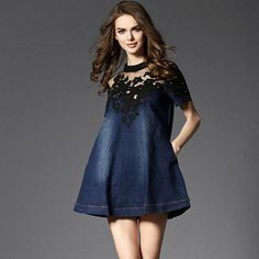 Denim Jeans Dress-Dress-Poised Luxury