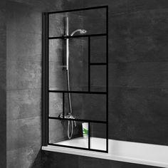 Pare-baignoire 1 volet pivotant Schulte Atelier 80 x 140 cm | Castorama Beautiful Space, Home Staging, Ladder Decor, Sweet Home, New Homes, Bathroom, Interior, Home Decor, Kitchen