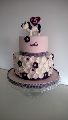 My little pony cake, Rarity cake, purple cake, flower cake, pony cake