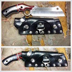 "40 Likes, 1 Comments - Roman Levin (@fullofh8) on Instagram: ""#minicleaver #knife #knifelife #knifeporn #knifemaking #leather #leathermaking #sheath…"""