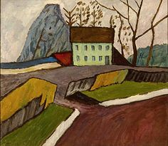 Gabriele Münter (1877-1962): The Green House, Murnau, 1911. Oil on canvas.