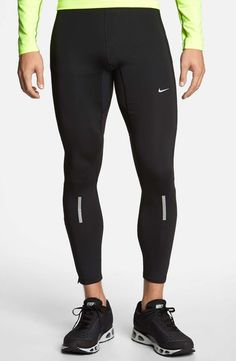 nike thermal leggings. mens fitness fashion. outfit. look. running pants. running shoes. longsleeve. fit. inspiration. healthy living. jogging. running.