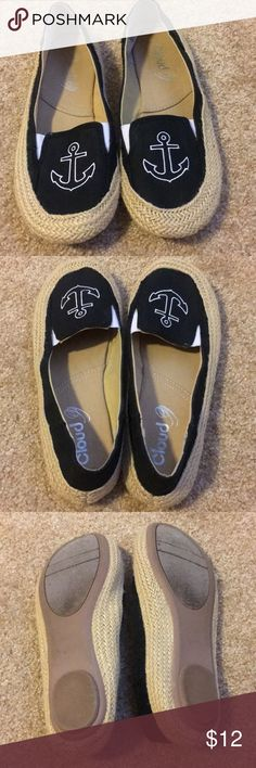 Worn once cloud 9 anchor Blk shoes Worn once cloud 9 anchor Blk shoes Cloud 9 Shoes Espadrilles