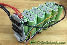 Why buy an expensive electric bicycle lithium battery? You can build your own at home for much cheaper, plus customize it to your exact needs! All you need are a few tools and the desire to do it yourself! Electronics Components, Diy Electronics, Electronics Projects, Types Of Renewable Energy, Electrical Projects, Electrical Wiring, Arduino Projects, Electric Bicycle, Electric Box