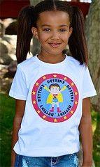 Superhero Birthday T-Shirt for Girls, Personalized Super Girl Shirt | FUNKY MONKEY THREADS #FMT #funkymonkeythreads #birthday #girlsuperhero
