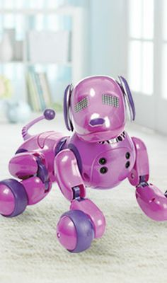 """Zoomer is this year's Innovative Toy of the Year award winner! Get it in purple, only at Toys""""R""""Us!"""