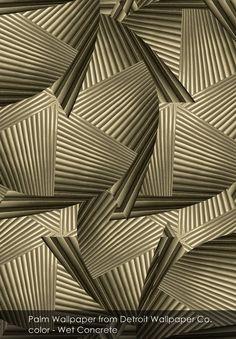 Palm wallpaper from Detroit Wallpaper Co. in Wet Concrete