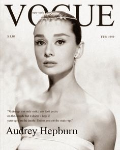 * AH!, Audrey Hepburn, Vogue Cover in 1959 . History of Fashion