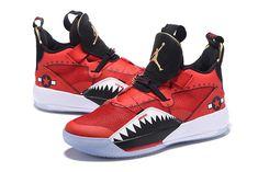 8b16d9fe3ce29d 2018 Air Jordan 33 Future of Flight Bright Red Black White Sneakers-4 New  Year
