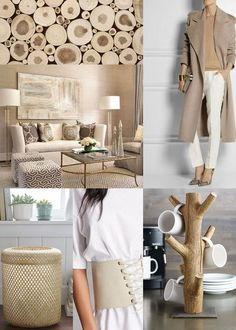 SPRING TREND: Beige. Use this classy neutral in new and unexpected ways in your wardrobe and home