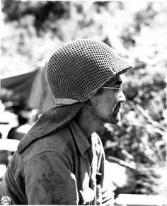 Japanese-American sniper of 100th Infantry Battalion of US 442nd Regimental Combat Team in Castellina Sector near Livorno Italy 15 July 1944.