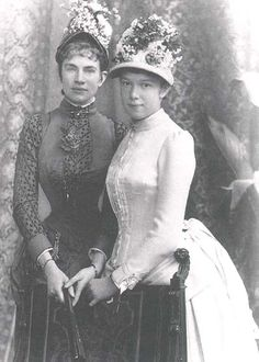 Archduchesses Gisela and Marie Valerie of Austria, daughters of Emperor Franz Joseph I and Empress Elisabeth of Austria.