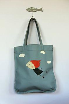 On cloud nine leather tote bag by HandMadeByKonovalovy on Etsy, $125.00