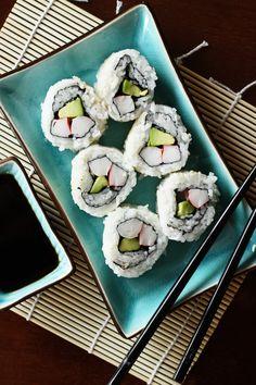 homemade california rolls - sans avocado for Ty
