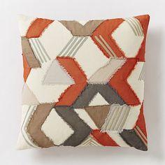 Frayed Broken Chevron Pillow Cover – Cayenne #westelm