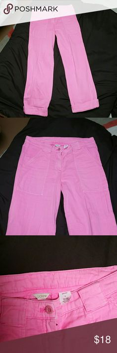 J. Crew pink pants J. Crew  city fit pants. Warm pink color. 100% cotton  Open to reasonable offers J. Crew Pants