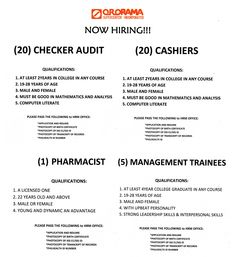 Looking for a job? Then this is just your luck because we are hiring now!