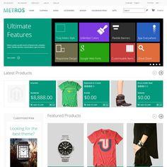 METROS – Responsive Metro Style Magento Theme