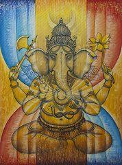 Featured Art - Ganesha  by Vrindavan Das