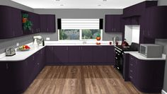 Use our free Virtual Kitchen Planner to help plan your perfect purple kitchen visit: http://www.premier-kitchens.co.uk/design-inspiration/Virtual-kitchen-planner/ or contact us to book a free 3D plan and design consultation