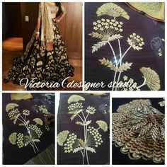 Designer Women Clothing creation Complete Hand Work with desired and attractive offers. For more information call or whatsapp at Hand Work Embroidery, Beaded Embroidery, Embroidery Patterns, Hand Work Design, Pakistani Wedding Outfits, Indian Textiles, Lesage, Indian Designer Outfits, Embroidery Techniques
