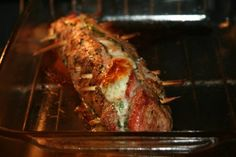 Bacon and Feta Stuffed Pork Tenderloin