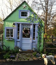 The front of my cottage...not sure if this is a garden shed or not but it's really cute!