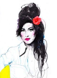 Amy Winehouse #3 by Zé Otavio, via Behance