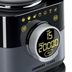 Amazon.de: CARRERA 655 Standmixer mit Kochfunktion und Dampfgareinsatz (BPA-frei)| Smoothie Maker, Ice Crusher | mit 1, 75 Liter Glasbehälter, 1.560 Watt, 20.000 U/min und 4 Edelstahl Flügelmesser | schwarz | Mit Powerfood-Hotline