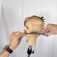 Hair Cutting Videos, Hair Cutting Techniques, Hair Videos, Long Pixie Cuts, Short Hair Cuts, Long Pixie Bob, Short Grey Hair, Girl Short Hair, Curly Hair Coloring