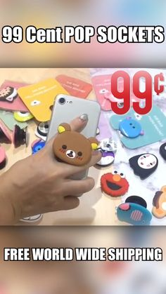 Blowout Sale: Cutest little cartoon pop sockets for your phone. Get one today! Amazing Life Hacks, Useful Life Hacks, Pastell Goth Outfits, Biscuit, Take My Money, Cute Phone Cases, Cool Gadgets, Hogwarts, Diy Gifts