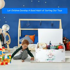 Wooden Toy Box Storage w/ Seating Bench for Kids $75.95 + Free Shipping This is the toy box which can help your children pack their toys.
