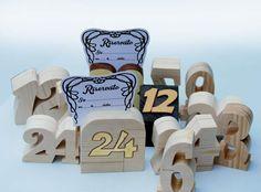 Numeri tavolo in legno di pino 5