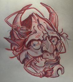Hannya for tomorrow! #tattoo #tattooworld #tattooartist #tattoospain #tatuajes #tattoobarcelona #neotrad #newschool #illustration #tattooworkers #tattooaddicts #tattoocollectors #tattoocollective #sketch #sketchtattoo #inkstagram #instatattoo #instaartist #tattooedgirls #tattooart #tattooedguys #pencil #pen #art #drawing #ink #comic #hannya #inktober #japanese