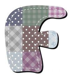Buchstabe / Letter - F (Patchwork / Quilt)