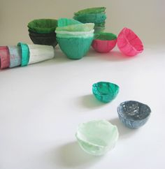 Recycle plastic bags into waterproof containers. a detailed tutorial http://www.ehow.com/how_6570684_make-plastic-bowl.html